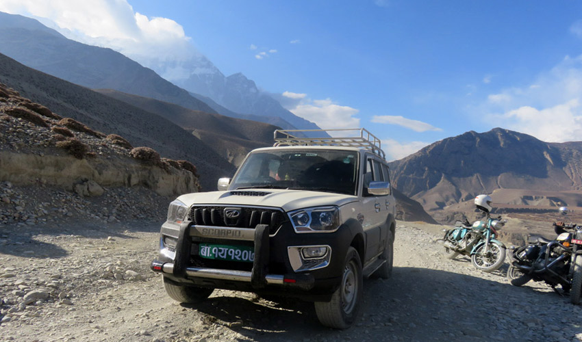 Jeep drive to Jomsom Muktinath