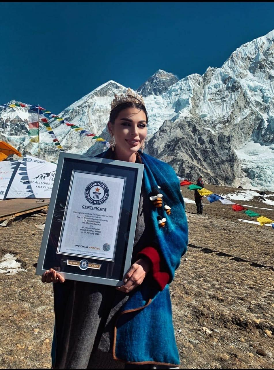 new Guinness World Record for The Highest Altitude Fashion Show