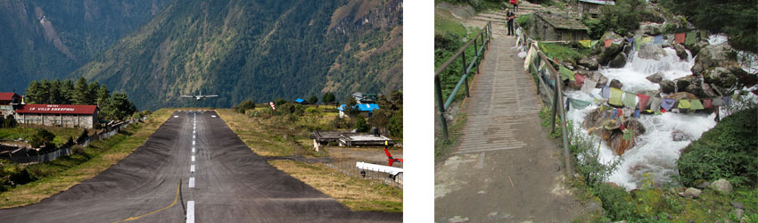 Lukla Airport and walking to Phakding