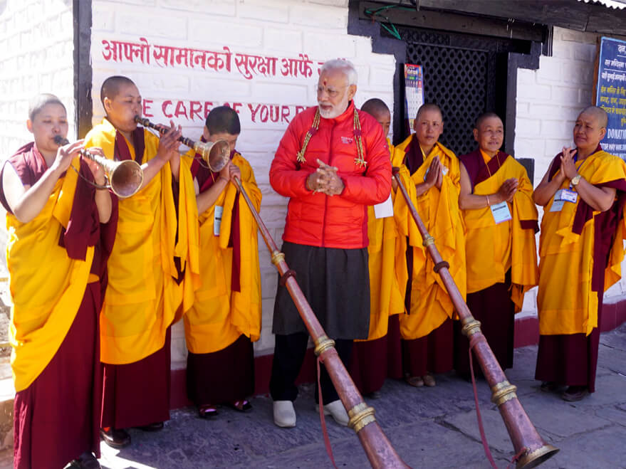 Indian Prime Minister Modi in Muktinath