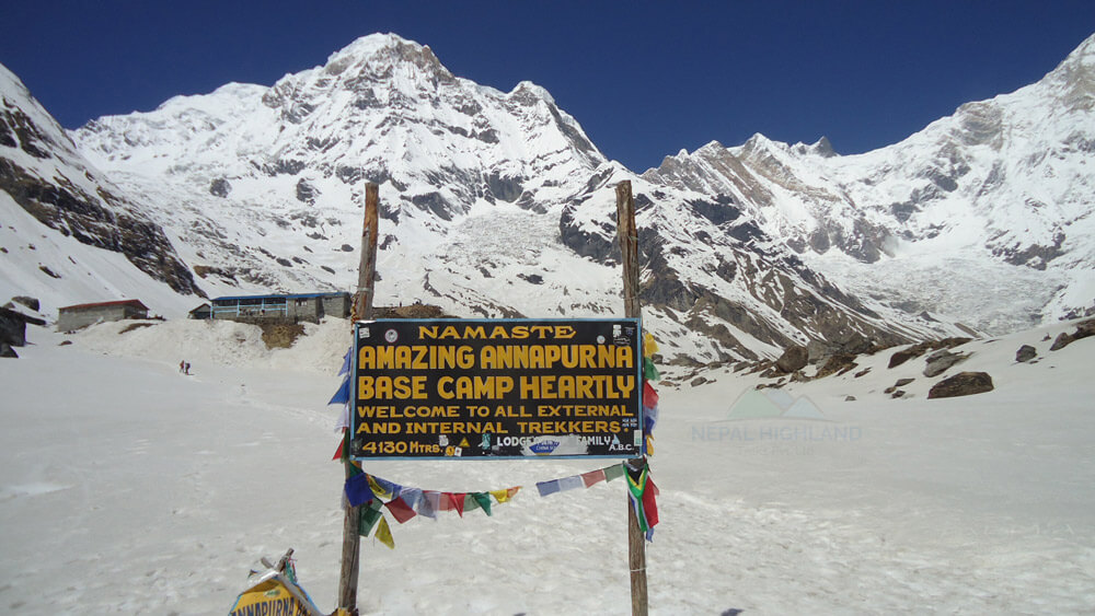 View from Annapurna Basecamp