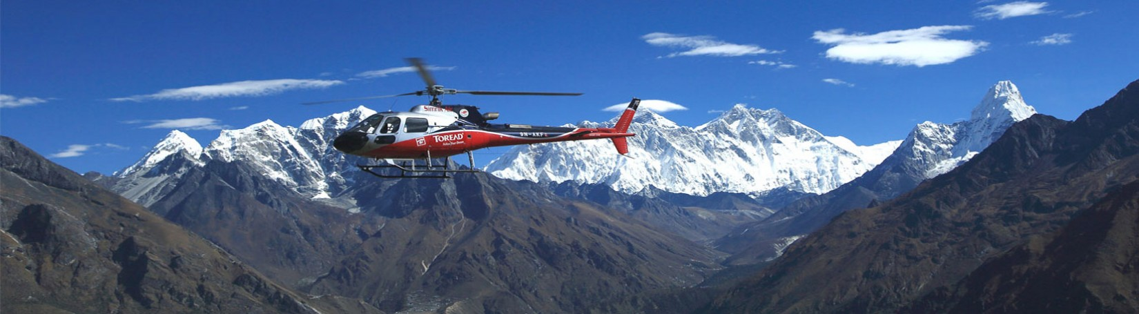 Heli flight to Everest region