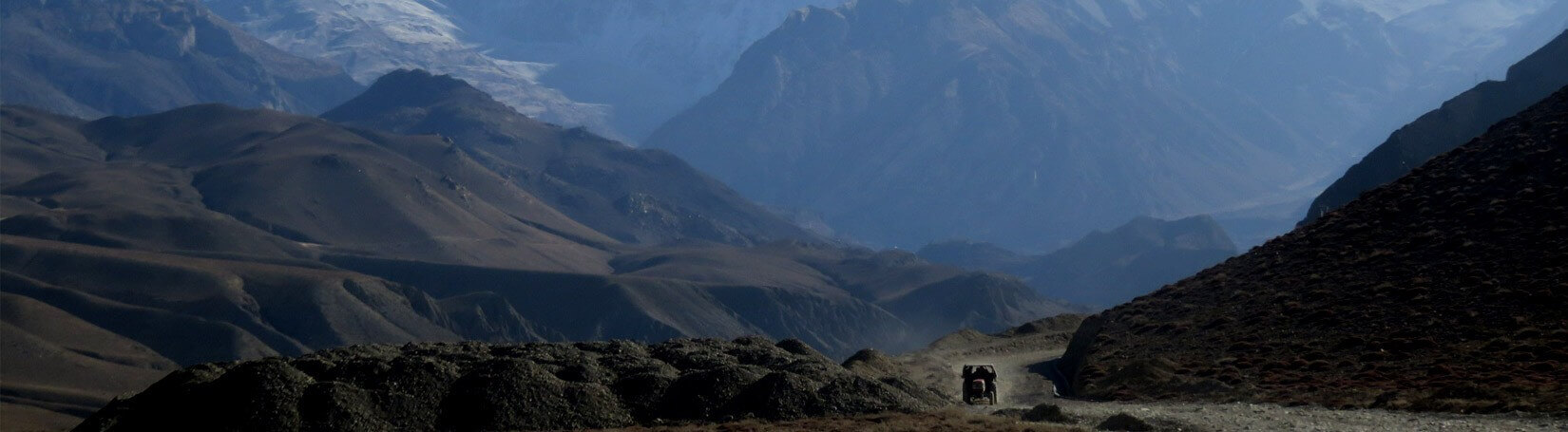 Rough road of Upper Mustang region