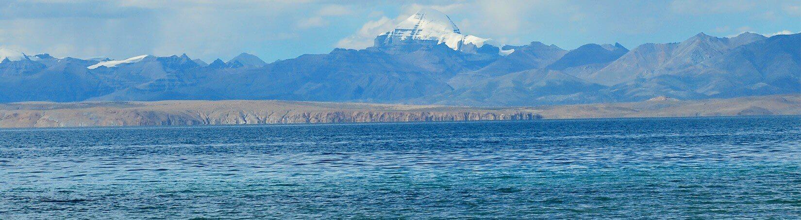 Lake Mansarovar and Mount Kailash view