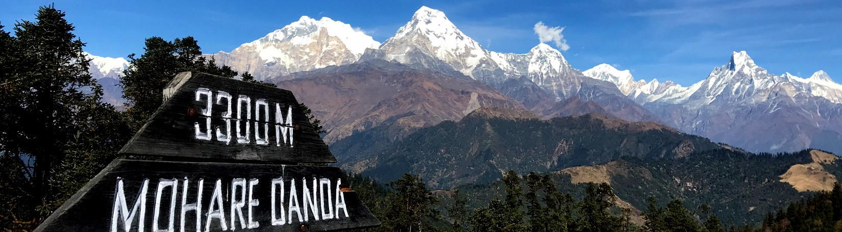 Scenic Himalayan view from Mohare Danda