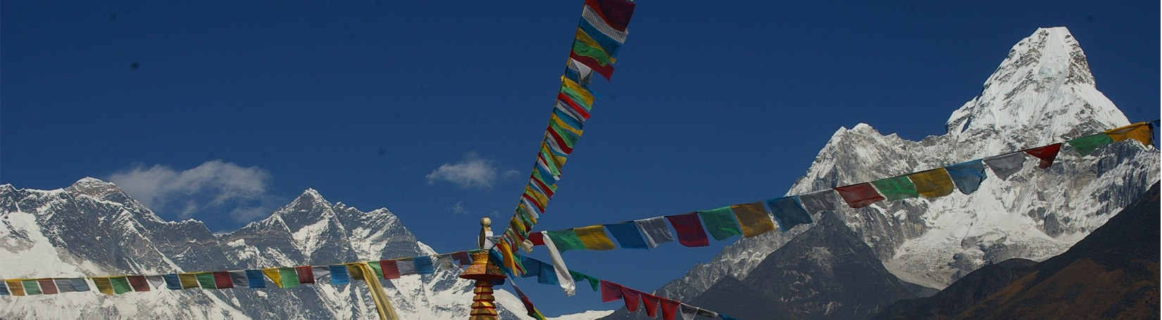 Mount Everest, Nuptse and Amadablam view from Tengboche