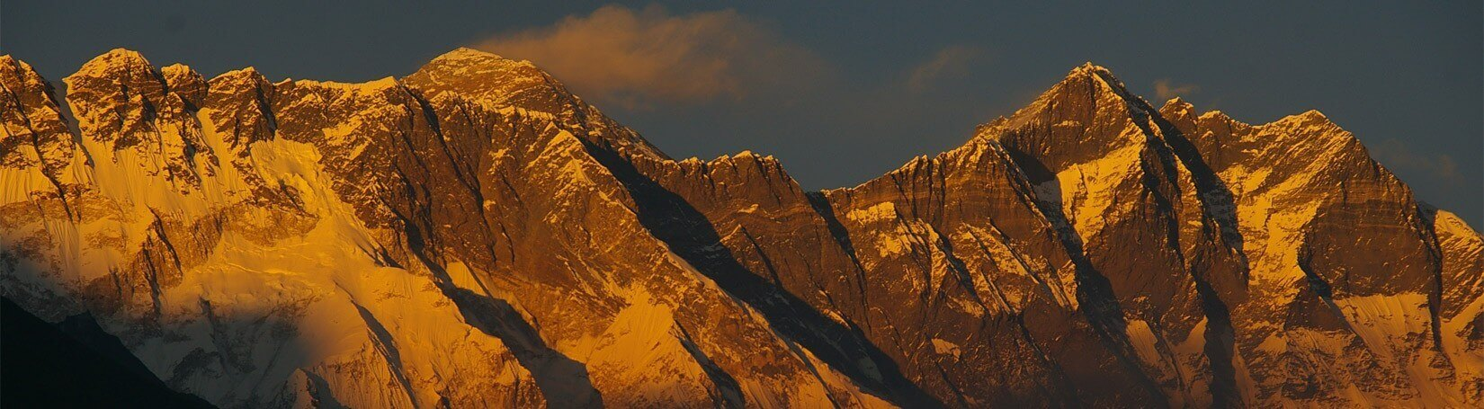 Mount Everest view at Sunrise