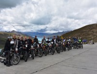 Motor Biking group at Yamdrok Lake