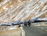 One the way from Lhasa to Everest Base Camp Riding