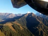 During flight to Lukla
