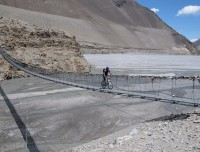 Cycling in Suspension bridge