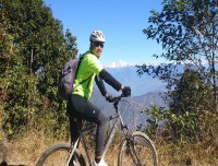 Cycling Chisapani Nagarkot section