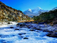 Dudh Koshi River and Ama Dablam View