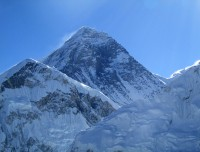 Mt Everest view in sunrise from Kalapathar