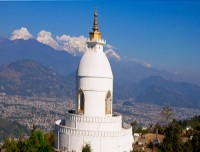 World peace stupa in Pokhara