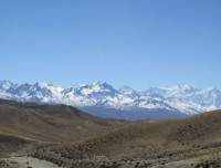 Himalayan view in Upper Mustang