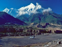 Jomsom Airport and Nilgiri Himalaya