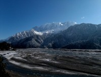 Jomsom Muktinath valley during winter