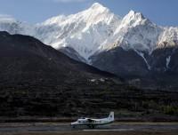 Jomsom Airport and Nilgiri Himalaya