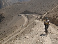 Rough road from Jomsom to Muktinath