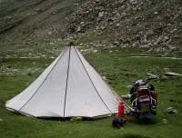 Tibetan Nomad and his Motorbike