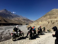 One the way to Upper Mustang Kaligandaki River Valley