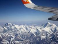 Scine dueing flight Kathmandu to Paro