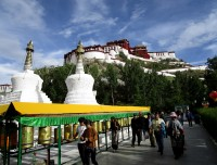 walking around Potala Palace