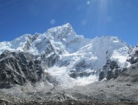 Mount Everest and Khumbu glassier