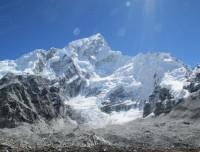 Mt Everest and Khumbu ice fall