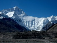 Mount Everest view from Ronbuk Monastery