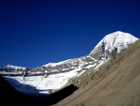 Mount Kailash view from near Dolma La pass