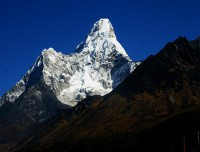 Mt Amadablam from Tengboche