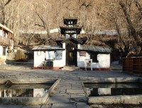 holy ponds in front of Temple
