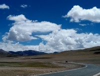 We paved road at Tibet