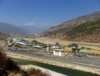 Bird Eye view of Paro Airport