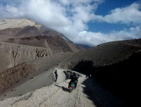 Rough road to Jomsom Muktinath