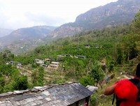 Scenic local village on the way to Mohare Danda Trekking