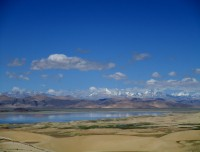 Scinic view on the way driving in Tibet