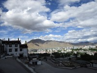 View of Shigatse city from Tashilampo Monastery