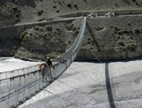 Suspension bridge over Kali gandaki River