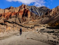 Scenic road to Upper Mustang
