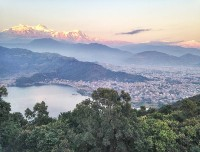 From World peace Pagoda Pokhara